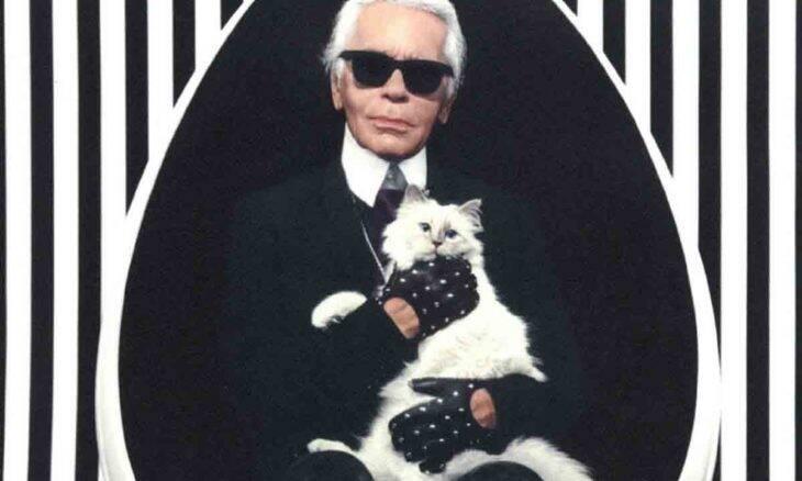 Karl Lagerfeld e sua gata, Choupette. Divulgação
