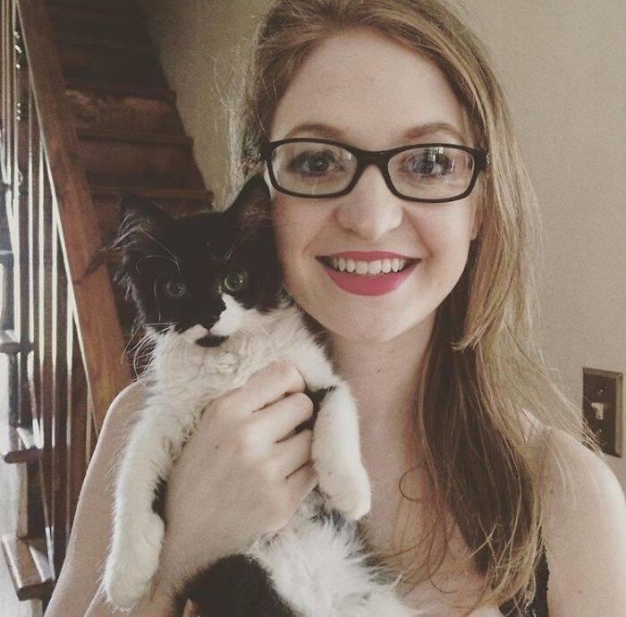 Christine e a gata Talia - Foto Flickr