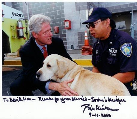 Sirius cães do 11 de setembro - Foto Twitter