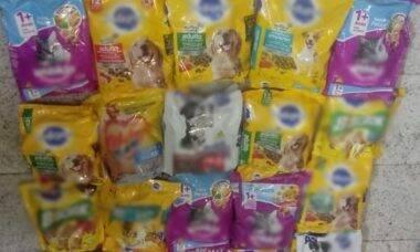 Cocaína em pacotes de ração - Foto PF