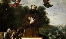 São Francisco prega para animais - Foto Wikimedia Commons