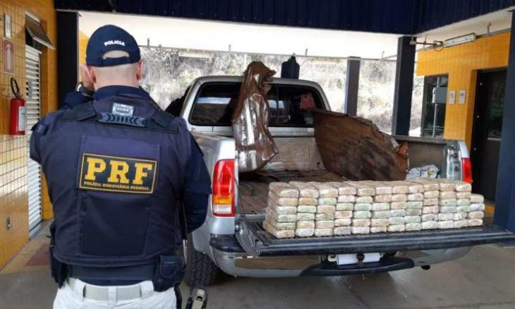 Apreensão de cocaína em MG - Foto Polícia Rodoviária Federal