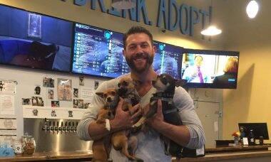 Fido's Taphouse, bar que oferece cerveja e cães para adoção - Foto Instagram