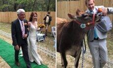 Casal celebra união em festa com cães, vacas, porcos, galinhas e peru