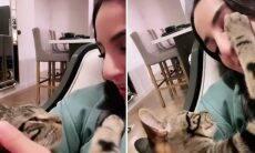 Vídeo: dona canta para gato, e a reação do bichano quebra a internet