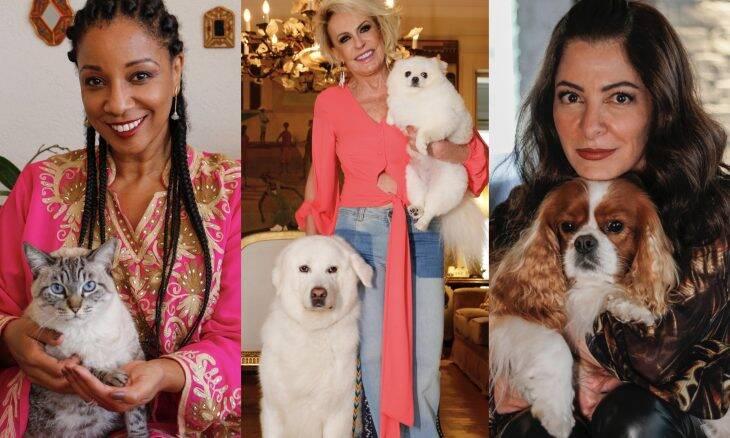 Exposição reúne imagens de famosos com seus pets em lojas da Cobasi