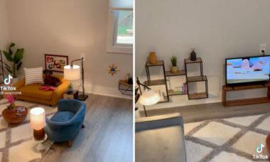 Vídeo: Dono constrói uma sala de estar para seus cãezinhos com sofás, TV e bar